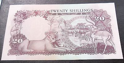 1966 Bank of Uganda 20 Shillings Banknote P#3 Animals Issue Mint CU # MGREEN1