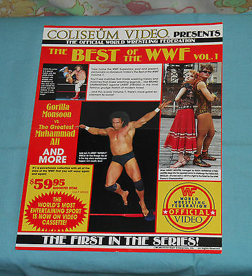 original COLISEUM VIDEO THE BEST OF THE WWF advertisement Jimmy Superfly Snuka