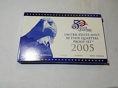 2005-S United States Mint 50 State Quarters Proof Set Free Shipping!