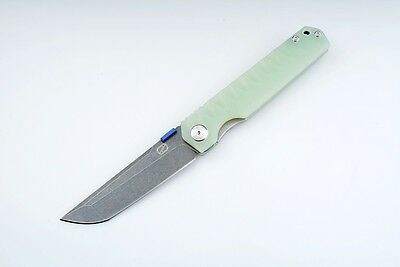 Nice Work ZKC-C03 Stedemon Knife SHY Jade G10 Liner Folder  440C Knife Bearing