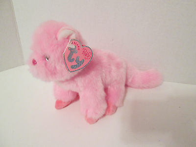 Ty Beanie Babies Pinkys Taffeta Pink Cat with Tag