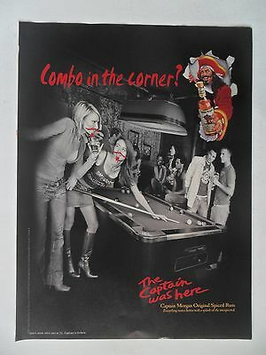 2004 Print Ad Captain Morgan Spiced Rum ~ Pretty Girls Billiards Pool Table