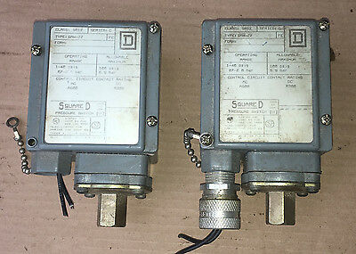 Square D Pressure Switch Interrupter 9012 GAW-22 Series C Lot of 2