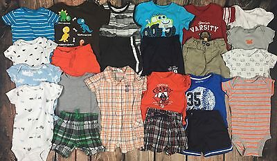 Lot Summer Baby Boy Clothes Shorts Outfits One Piece T Shirts Size 12 mo
