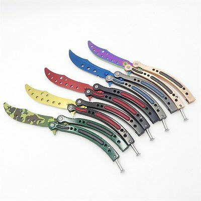 Cool Blunt Butterfly Practice Knife Dull Knife Trainer Training Practice Tool
