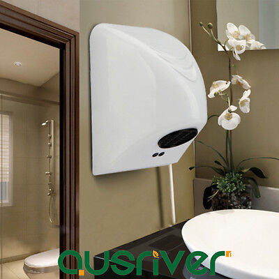 Light Wall Mounted Automatic Hand Dryer Commercial Grade Washroom Energy Saving