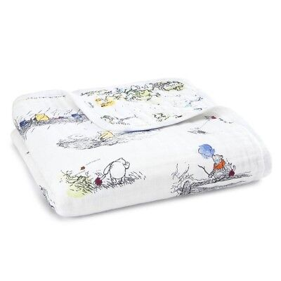Aden + Anais and Disney Baby Dream Blanket - Winnie the Pooh 100% Cotton Muslin