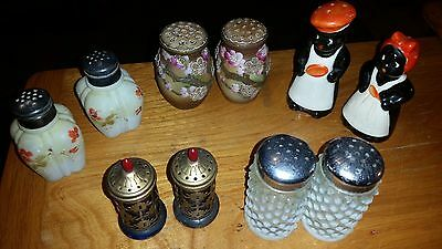 Vintage Antique Lot of 5 pair Very Unique Salt and Pepper Shakers