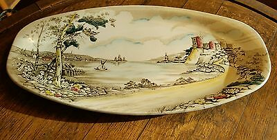 British Anchor Alton Lakes Sandwich Plate Serving Plate 1940's