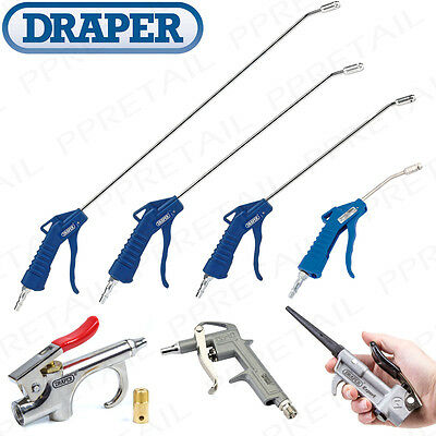 Draper COMPRESSED AIR BLOW GUNS Long Reach/Nozzle/Hand Dust/Water Cleaner/Blower