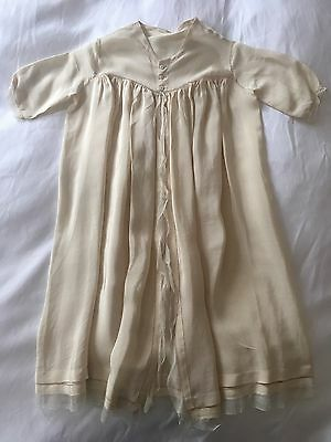 Baby Dress Antique Silk Christening Gown