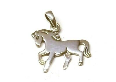 Solid 925 Sterling Silver Horse Pony / Head Head Pendant without Chain Necklace