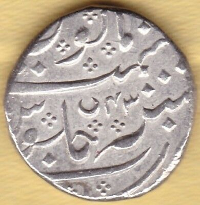 Indo French India Arkat Mint Silver Rupee Ry 43 #b10