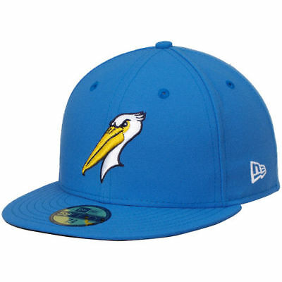 New Era Myrtle Beach Pelicans Blue Authentic Road 59FIFTY Fitted Hat - MiLB