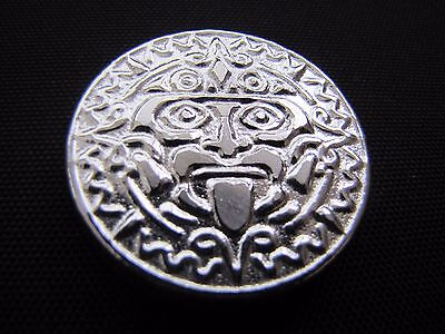 HACMint 3.7 oz 999+ Fine Silver AZTEC MASK Hand Poured COIN ROUND