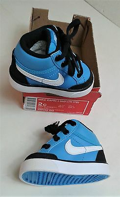 Nike Baby/Toddler Capri 3 Mid LTR Blue Lace Up Trainers UK 1.5 New