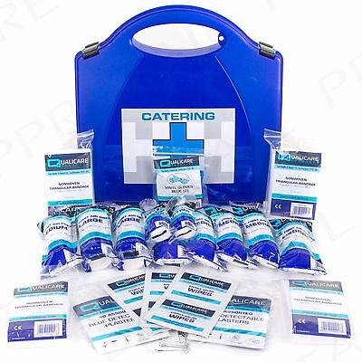 PREMIUM 1-10 PERSON HSE APPROVED FIRST AID CATERING KIT + BRACKET Cafe/Kitchen