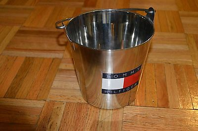VINTAGE VTG TOMMY HILFIGER Stainless Steel Big Logo Spell Out Bucket Pail