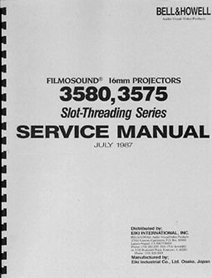 Bell & Howell EIKI 3580, 3575 Projector Service Manual