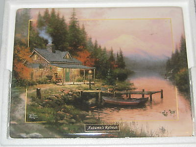 Thomas Kinkade Seasons of Reflection AUTUMNS RETREAT Wall Plate