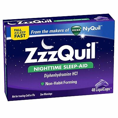 ZzzQuil Nightime Sleep Aid, 48 Count
