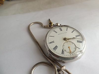 an antique hallmarked silver cased pocket watch - kendal and dent