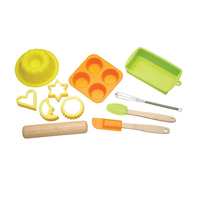 Kitchen Craft Let's Make Children's 11-Piece Silicone Bakeware Set