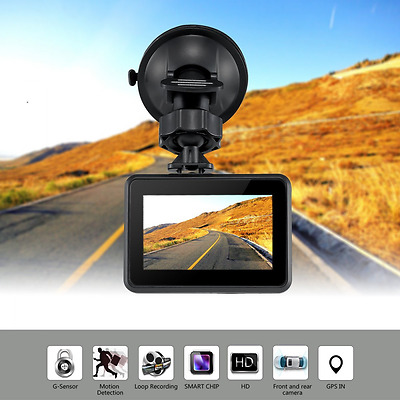 ODRVM Full HD 1080P Vehicle Dash Camera Front And Rear Dashboard Camera Dual Len