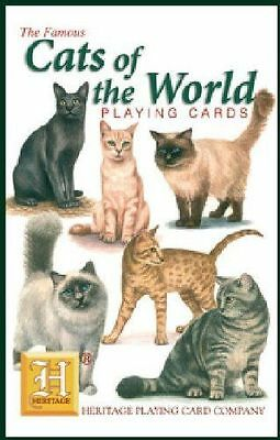 Heritage Playing Cards - CATS OF THE WORLD - NEW!  Very educational