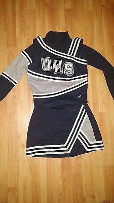 Navy Blue and Silver High School Cheerleading Uniform (as is)