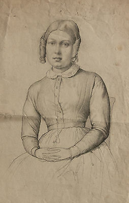 Guillaume Bodinier. Dessin XIXe. Drawing, Angers, Corot, Guérin. 19th.