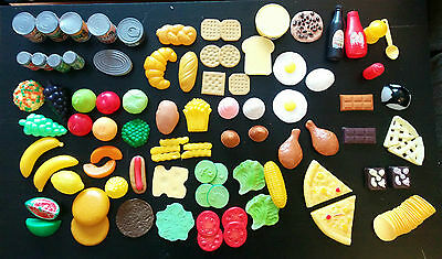 Pretend Play Plastic Food Lot 100+ Items Kitchen Fake Toy Cooking Little Gourmet