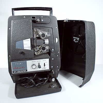 Vintage Sears 8MM Movie Projector Automatic Thread 584.92700 with Case