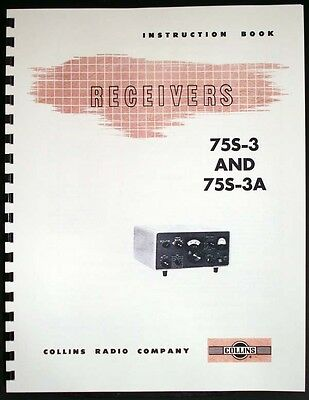 Collins 75S-3 75S-3A Receiver Manual HAM RADIO