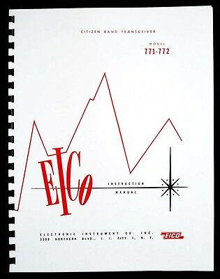 EICO Model 771 772 Citizen Band Transceiver Instruction Manual