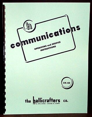 Hallicrafters SX-62 SX62 Radio Receiver Manual