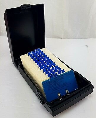 "Rolodex RC-24 Covered Index Card File Has 3"" X 5"" UNUSED Cards With A-Z Tabs"
