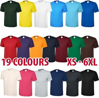 Mens & Womens Classic Plain T-Shirt Tshirt Short Sleeve Soft Wholesale Crew Neck