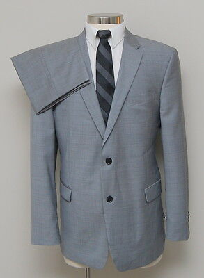 NWT Mens Tommy Hilfiger 2 Piece Grey 100% Wool Suit