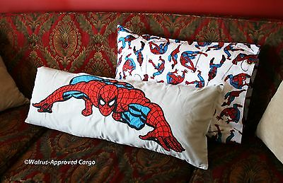 Pottery Barn Kids Spiderman Pillow Covers -Nwt- A Web Of Fun For The Little One!