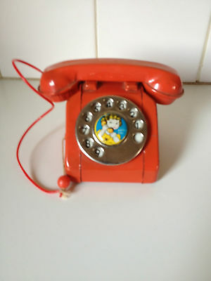 Vintage Tin Toy Telephone Made In Japan Antique Collectable Retro Display