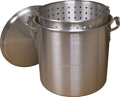 King Kooker 100 Quart Aluminum Pot with Basket and Lid