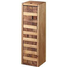 New Stained Hardwood Australian Jenga Tumbling Tower 24cm Board game