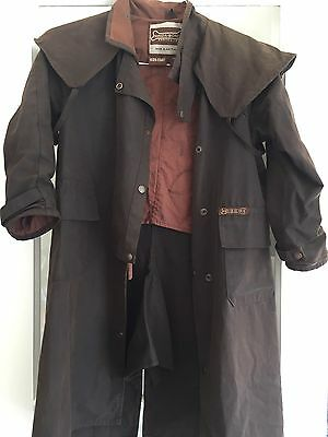 Kids DRIZABONE/Driza Bone Children's Riding Coat (Brown) Oilskin Coat Sz 8-10
