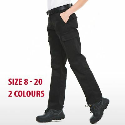 Uneek Ladies Cargo Work Trousers Women Combat Safety Action Workwear Pockets Lot