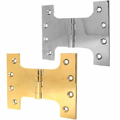 PAIR OF HEAVY DUTY QUALITY PARLIAMENT DOOR HINGES Wide Throw Full Swing Back