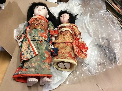 ANTIQUE JAPANESE DOLLS, Very Old , As Is , As Found