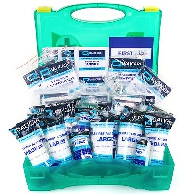 PREMIUM HSE APPROVED 1-20 Person FIRST AID KIT WALL MOUNTED HARD BOX Workplace