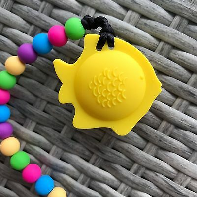 Silicone Baby Teething Toy Pacifier Clip Chewing Beads BPA-Free Teether Pendant