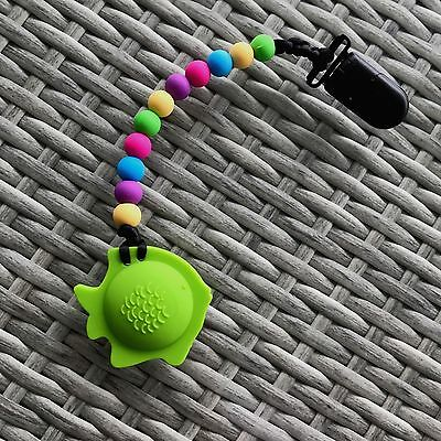 Silicone Baby Teething Chewing Pacifier Fish Toy BPA-Free Sensory Teether